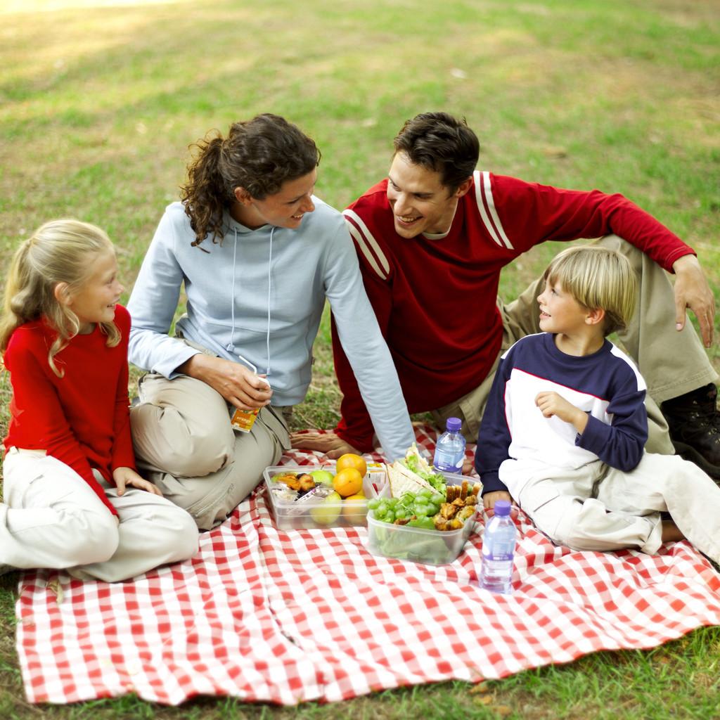 Piquenique com crianças